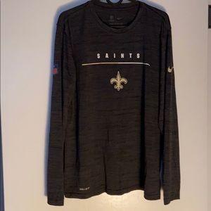 NWOT Saints Nike Dri-Fit Long sleeve